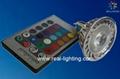 3W led 全彩射燈 帶遙控 2