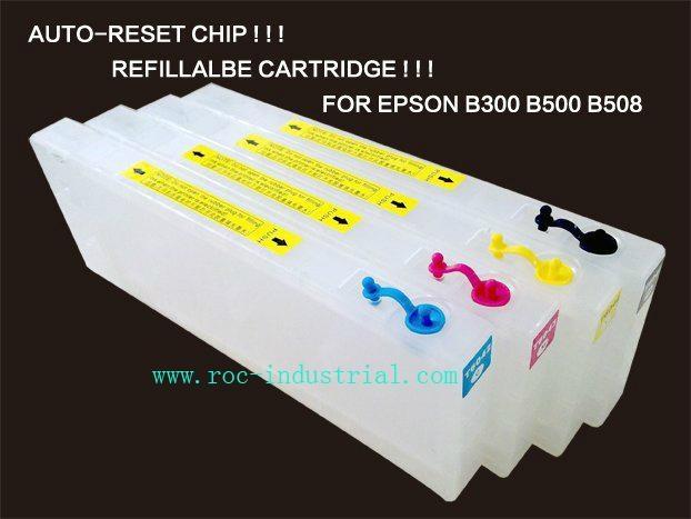 Refillable cartridge for Epson stylus pro B-300 B-500DN 1