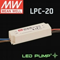 MEANWELL 20W 350mA,700mA Constant Current LED Driver/Power Supply