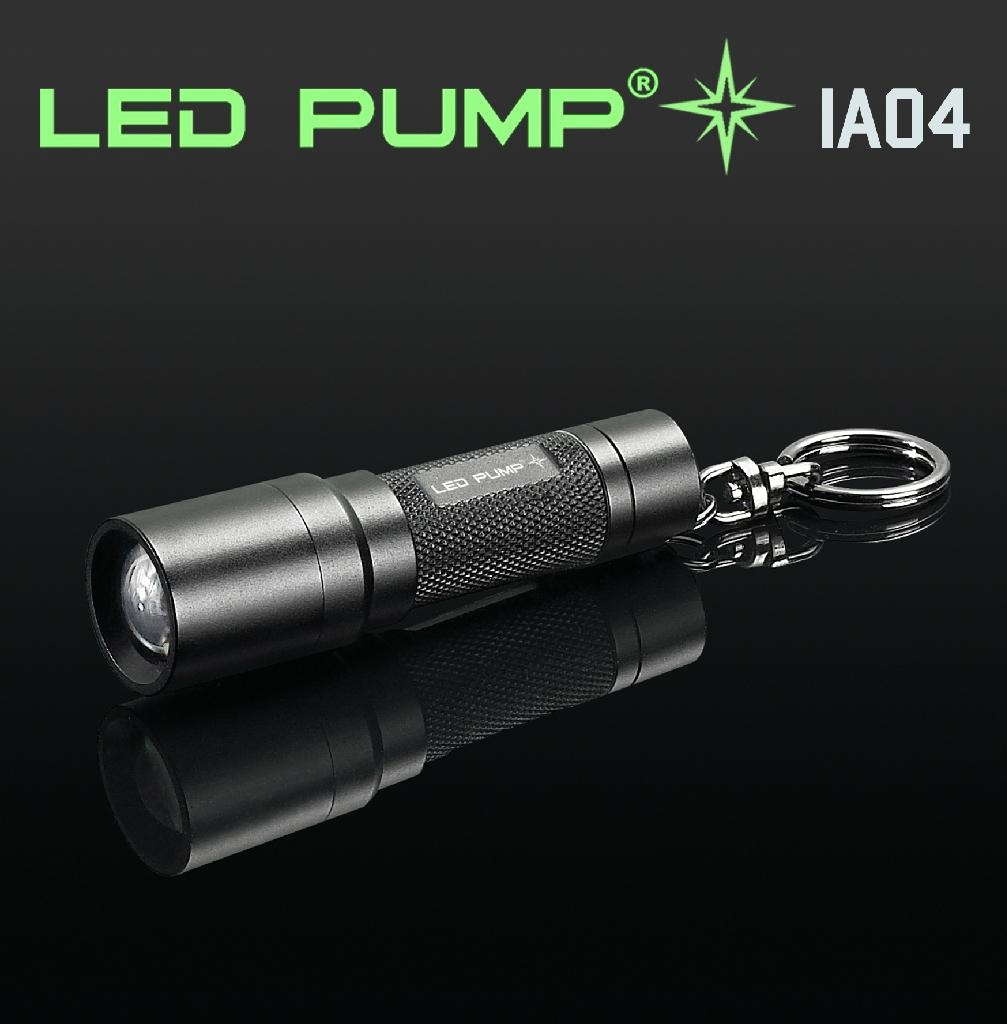 0.5W Nichia LED keychain torch/flashlight with 4 AG13 batteries  1