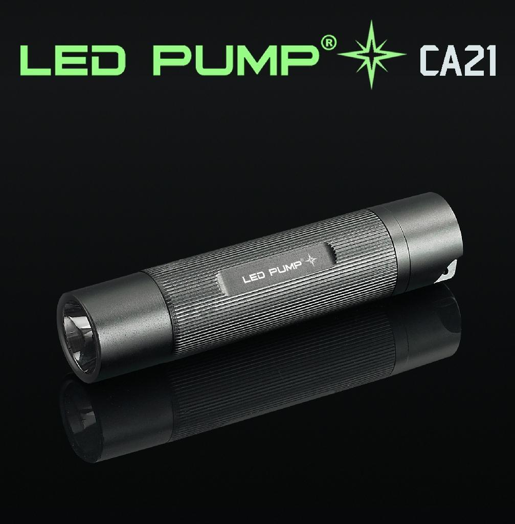 130流明 3×AAA CREE Q4 LED 直纹铝电筒 1