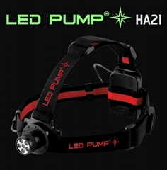 110 lumens headlamp/headtorch with 6 Nichia LEDs and 3×AAA bateries