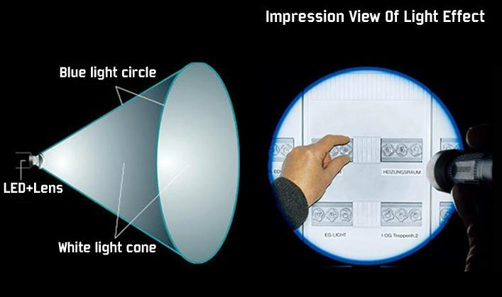 2×AAA 月亮光直紋檢驗電筒 3