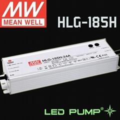 明纬185W恒压+恒流+PFC铝壳可调光LED电源