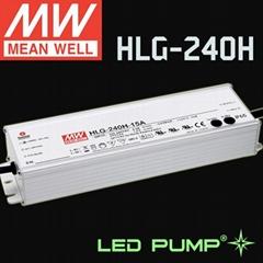 明纬240W恒压+恒流+PFC铝壳可调光LED电源