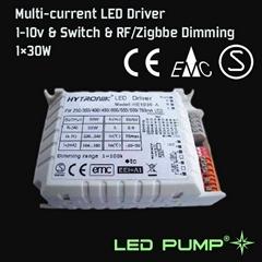 250~700mA 多路恒流调光LED电源 (1×30W)