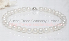 High grade large freshwater pearl necklace