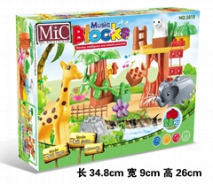 MIC 28PCS music zoo blocks  animal blocks toys puzzle 5010