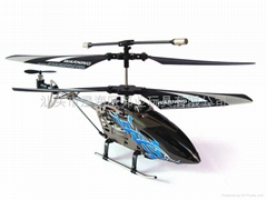 三通遥控带陀螺仪合金直升机