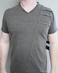 100% cotton men's shlort sleeve T-shirt