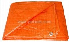 Orange eyelet pe tarpaulin