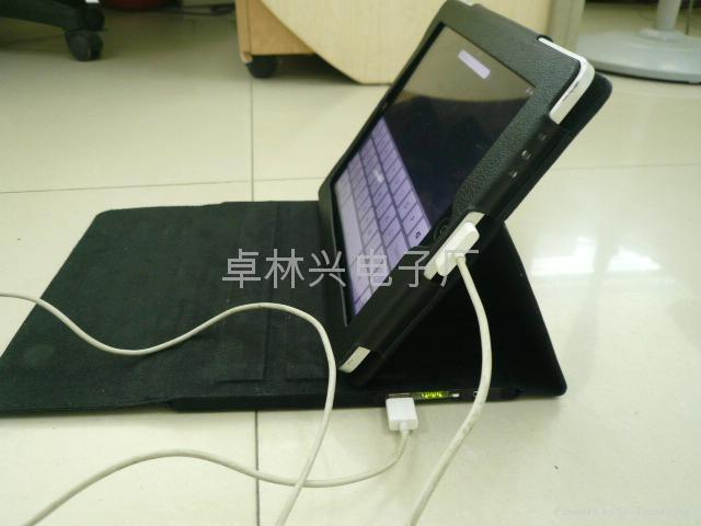 IPAD多个功能后备电池皮套 5