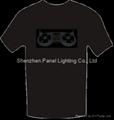 Sound Active EL T-shirt with dish machine logo design 2
