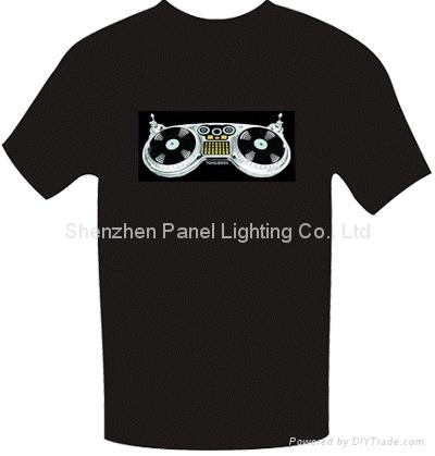 Sound Active EL T-shirt with dish machine logo design 1