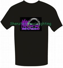 Latest Hot selling EL T-shirt with music