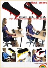 Ergonomic mouse pad with arm support