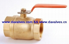 two piece full port brass ball valve for water