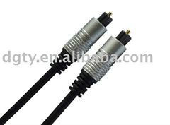 3.5mm optical fiber toslink cable with metal hood