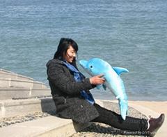 仿真海豚海洋毛絨玩具