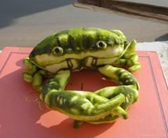 仿真螃蟹毛絨玩具