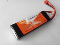 4000mah 3S1P 11.1V 25C high dischage lipo battery/ R/C radio control battery pac