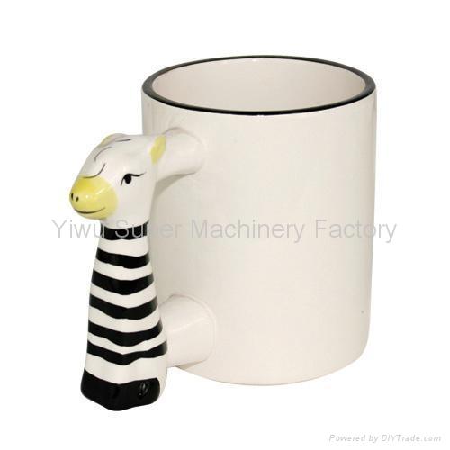 Coated animal handle mug animal shaped mugs product for Animal shaped mugs