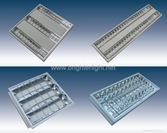 T5 or T8 flourescent louver recessed  Grille luminaire