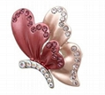 fashion enamel&rhinestone alloy butterfly brooch