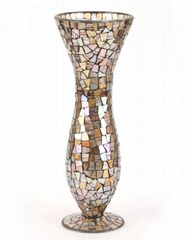 Mosaic Glass Flower Vases