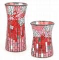 Mosaic Glass Flower Vases 2