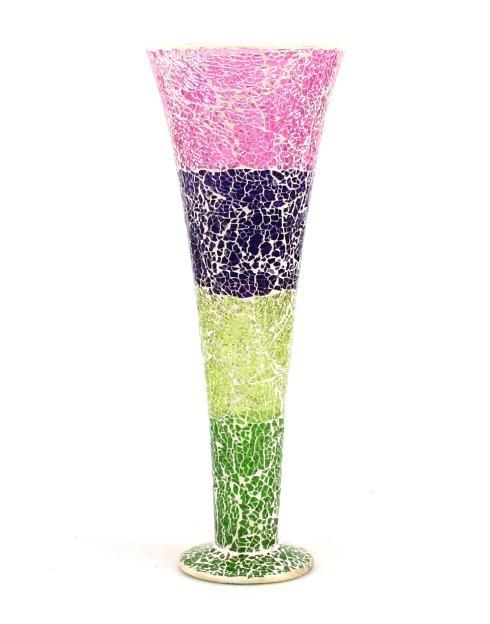Mosaic Glass Flower Vases 4