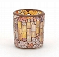 Glass Mosaic Tea light Candle Holders
