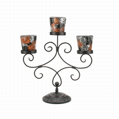 Mosaic Votive Candle Holders On a Metal Holder