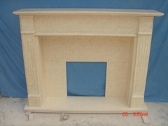 Fireplace made from Galala Beige