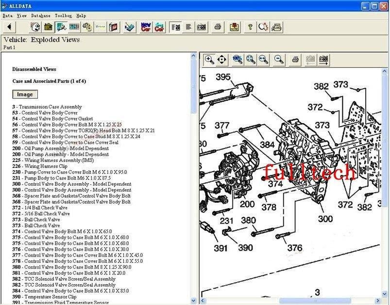 Automotive Wiring Diagram Drawing Software : Alldata with mitchell automobile data five