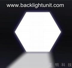 Laser light guide plate for LED Ceiling Light hexagonal panel
