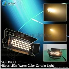 48pcs LEDs Warm Color LEDs Sky/Ground Stage Curtain Light