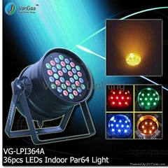36pcs LEDs RGB Par 64 Light(Short)