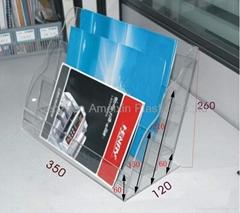 Acrylic magazine display stand