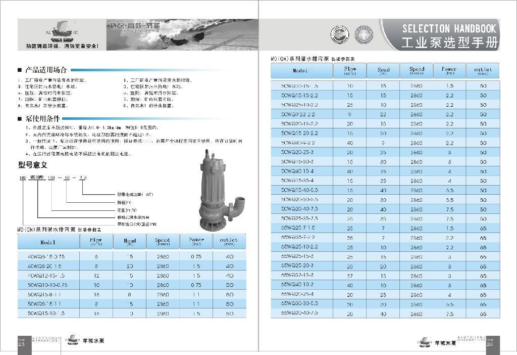 WQ(QW)无堵塞立式潜水排污泵 4