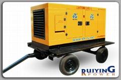 供应50KW上柴移动电站式柴油发电机组四轮拖车式