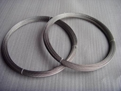 Tungsten wires for eletrical light sources.