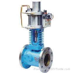 当汽轮机开始工作时,控制系统装置中的液压源通过电磁换向阀进入助关图片