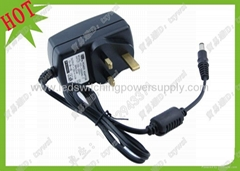 UK plug adaptor 12V2A wall mounting power adaptor for LED lighting