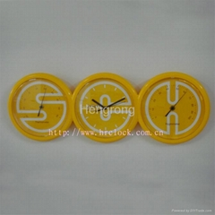 Plastic Wall Clock with Thermometer and Hygrometer
