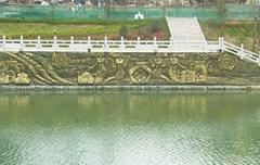 園林景觀雕塑 水泥仿銅雕塑 仿金屬浮雕雕塑 河岸雕塑