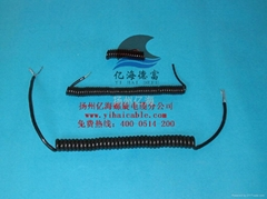 供應小螺旋電源電纜