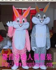 定制杭州人偶服装毛绒玩具服装兔子