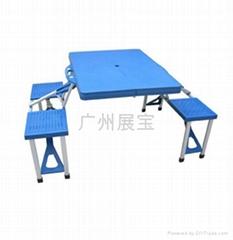 鋁合金連體桌椅