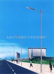 LED light pole road